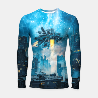 Thumbnail image of Voyager by Night Longsleeve rashguard , Live Heroes
