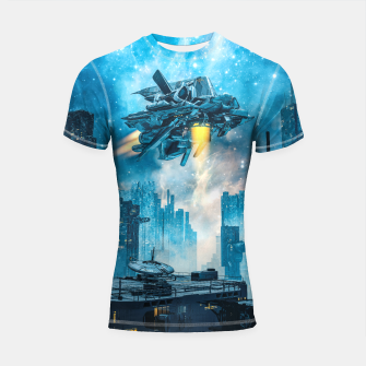 Thumbnail image of Voyager by Night Shortsleeve rashguard, Live Heroes
