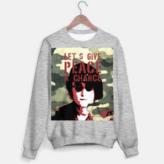 Miniatur Quote - let's give peace a chance Sweater regular, Live Heroes
