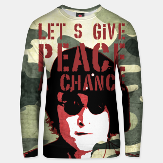 Miniaturka Quote - let's give peace a chance Unisex sweater, Live Heroes