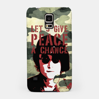 Miniatur Quote - let's give peace a chance Samsung Case, Live Heroes