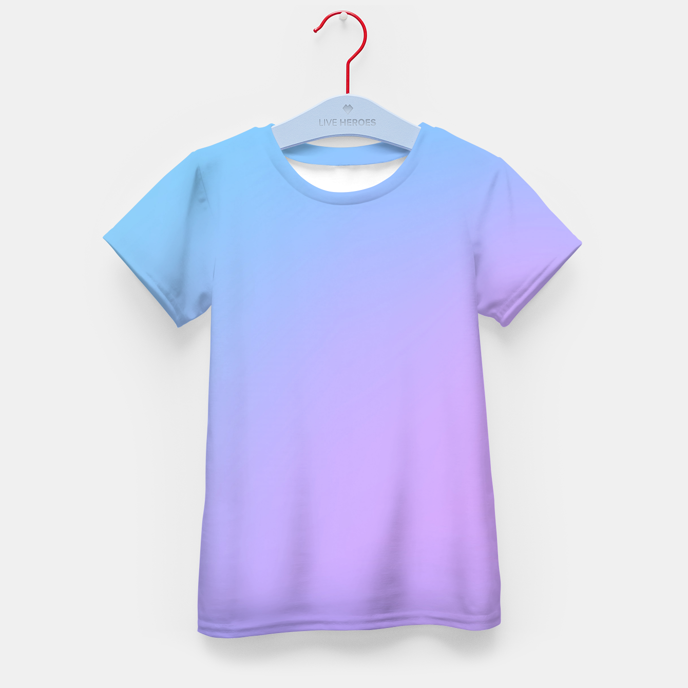 Image of Blue pink purple gradient background Kid's t-shirt - Live Heroes