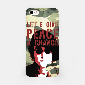 Miniatur Quote - let's give peace a chance iPhone Case, Live Heroes