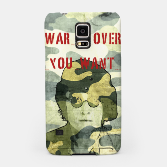 Quote - war is over if you want it Samsung Case Bild der Miniatur