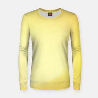 Thumbnail image of Yellow sunny grain gradient Women sweater, Live Heroes