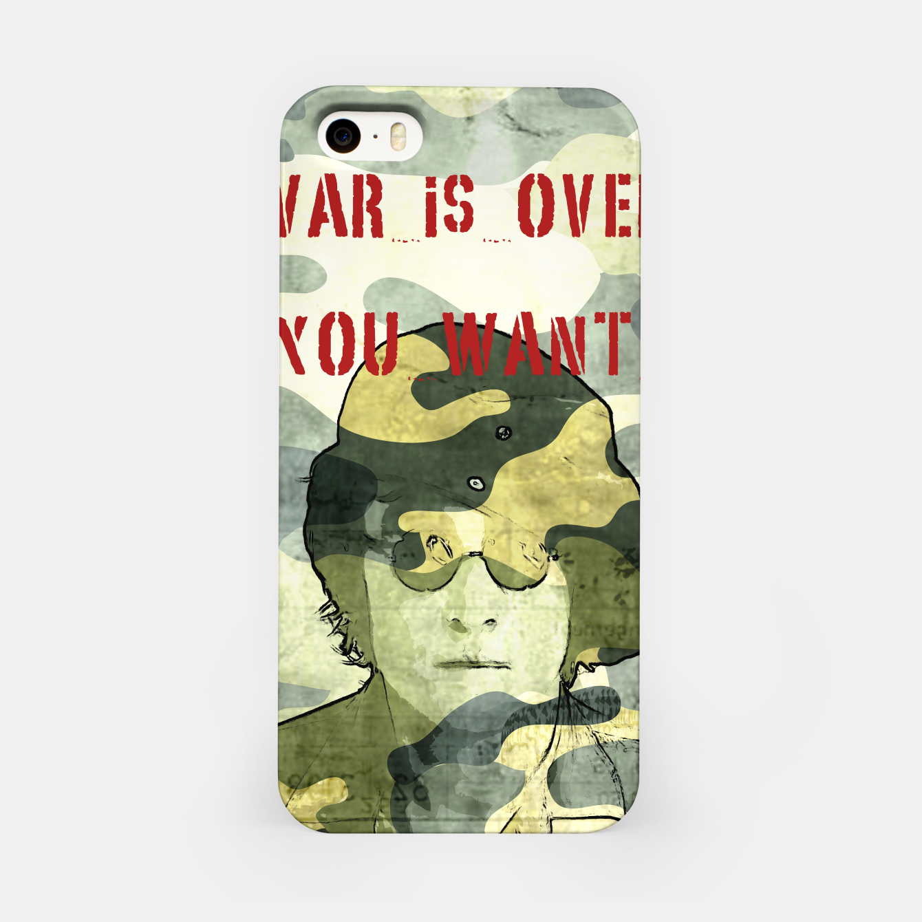 Foto Quote - war is over if you want it iPhone Case - Live Heroes