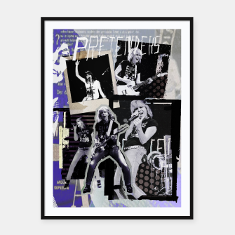 Miniatur Pretenders collage Framed poster, Live Heroes