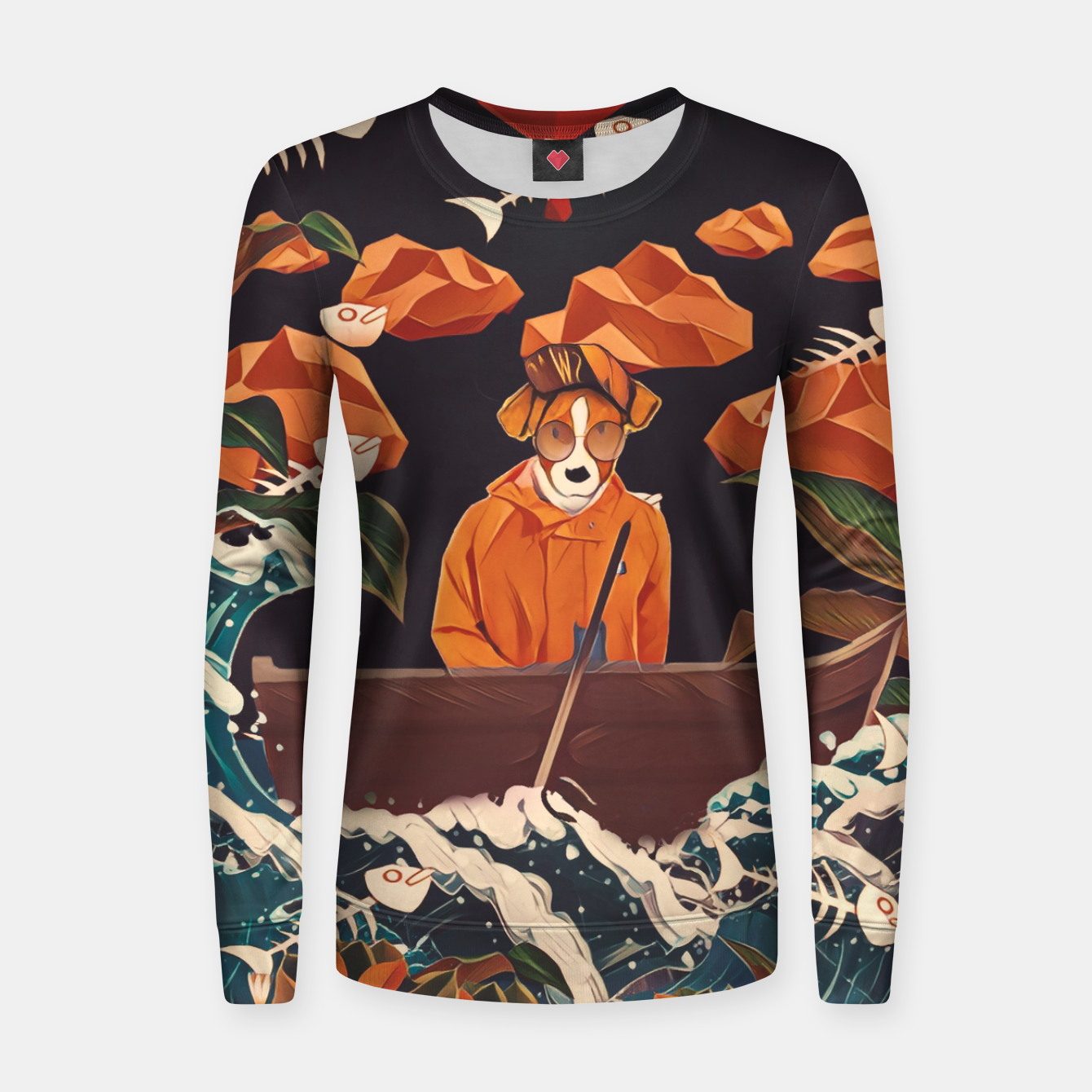 Image of Alone in the ocean Women sweater - Live Heroes