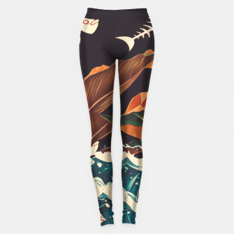 Miniature de image de Alone in the ocean Leggings, Live Heroes