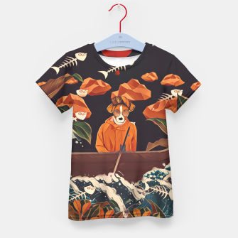 Thumbnail image of Alone in the ocean Kid's t-shirt, Live Heroes
