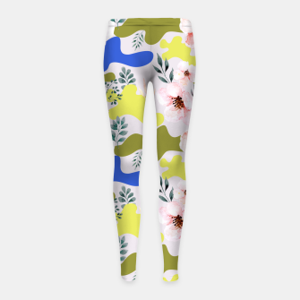 Thumbnail image of Floral Cameo Girl's leggings, Live Heroes