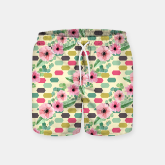 Thumbnail image of Geofloral mix Swim Shorts, Live Heroes