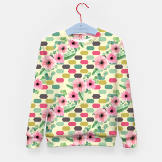 Thumbnail image of Geofloral mix Kid's sweater, Live Heroes