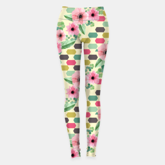 Thumbnail image of Geofloral mix Leggings, Live Heroes