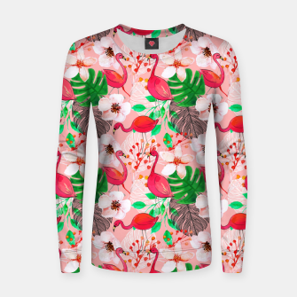 Thumbnail image of Tropical garden Women sweater, Live Heroes