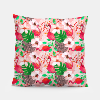 Thumbnail image of Tropical garden Pillow, Live Heroes