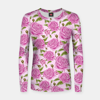 Thumbnail image of Floral Pink Roses Women sweater, Live Heroes