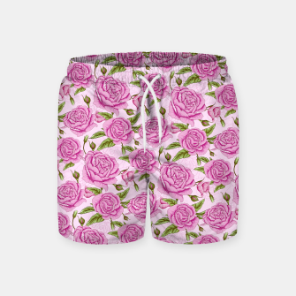 Thumbnail image of Floral Pink Roses Swim Shorts, Live Heroes