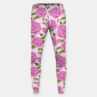 Thumbnail image of Floral Pink Roses Sweatpants, Live Heroes