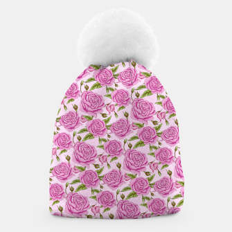 Thumbnail image of Floral Pink Roses Beanie, Live Heroes