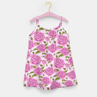 Thumbnail image of Floral Pink Roses Girl's dress, Live Heroes