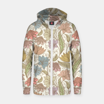 Thumbnail image of Floral Tropical Vintage Zip up hoodie, Live Heroes