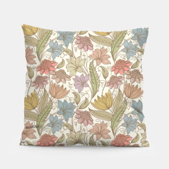 Thumbnail image of Floral Tropical Vintage Pillow, Live Heroes