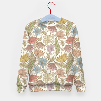 Thumbnail image of Floral Tropical Vintage Kid's sweater, Live Heroes
