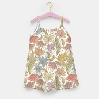Thumbnail image of Floral Tropical Vintage Girl's dress, Live Heroes