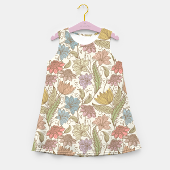 Thumbnail image of Floral Tropical Vintage Girl's summer dress, Live Heroes