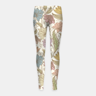 Thumbnail image of Floral Tropical Vintage Girl's leggings, Live Heroes