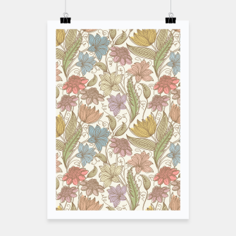Thumbnail image of Floral Tropical Vintage Poster, Live Heroes