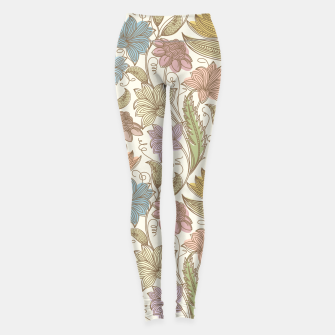 Thumbnail image of Floral Tropical Vintage Leggings, Live Heroes