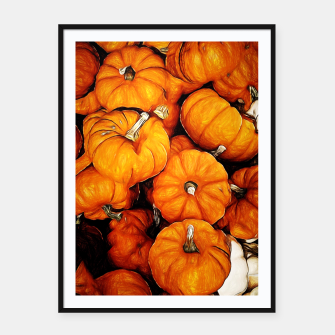 Thumbnail image of Tiny Pumpkins Pile Framed poster, Live Heroes