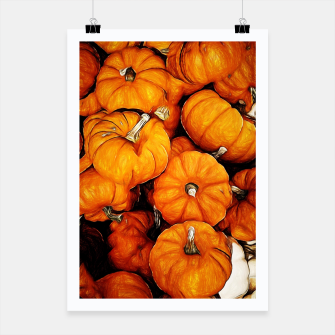 Thumbnail image of Tiny Pumpkins Pile Poster, Live Heroes