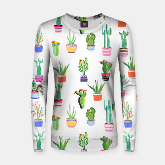 Thumbnail image of Cacti Land 2 Women sweater, Live Heroes