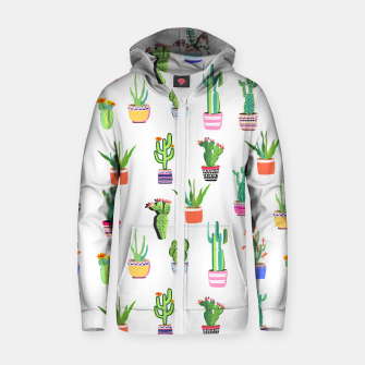 Thumbnail image of Cacti Land 2 Zip up hoodie, Live Heroes