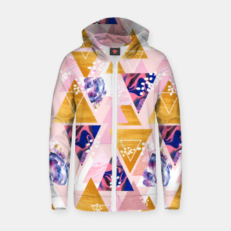 Miniatur Blush Geo Magic Zip up hoodie, Live Heroes