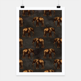 Thumbnail image of Bronze animal pattern Plakat, Live Heroes