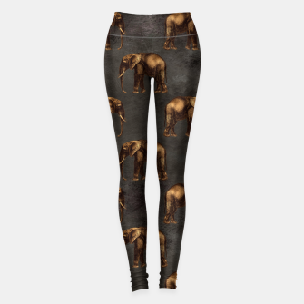 Thumbnail image of Bronze animal pattern Legginsy, Live Heroes