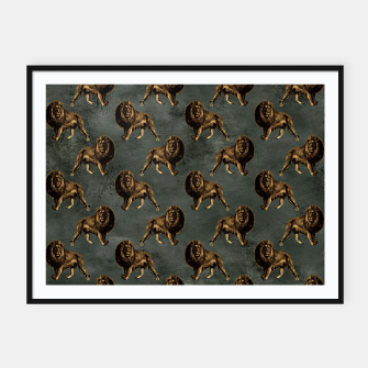 Thumbnail image of Bronze animal pattern Plakaty w ramie , Live Heroes