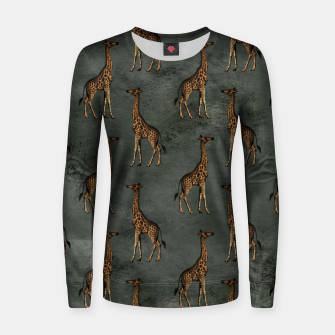 Thumbnail image of Bronze animal pattern Bluza damska, Live Heroes