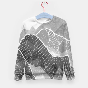 Miniaturka The silver and grey peaks Kid's sweater, Live Heroes