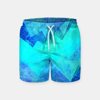 Thumbnail image of Abstract blue Swim Shorts, Live Heroes