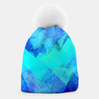 Thumbnail image of Abstract blue Beanie, Live Heroes