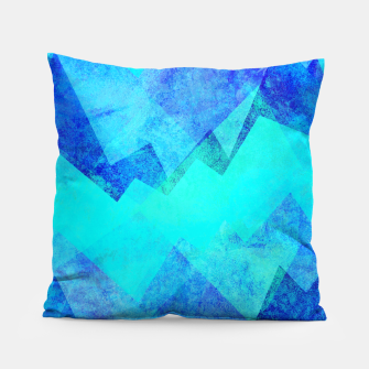 Thumbnail image of Abstract blue Pillow, Live Heroes