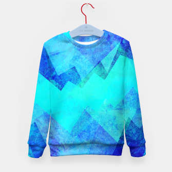 Miniaturka Abstract blue Kid's sweater, Live Heroes