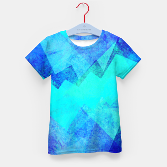 Thumbnail image of Abstract blue Kid's t-shirt, Live Heroes