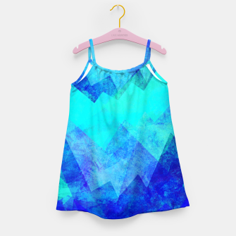 Thumbnail image of Abstract blue Girl's dress, Live Heroes
