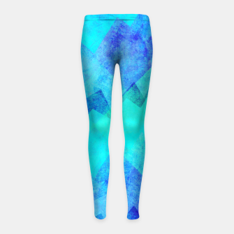 Thumbnail image of Abstract blue Girl's leggings, Live Heroes